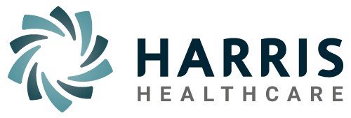 harris healthcare logo color for print